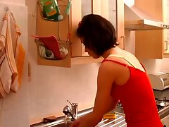 Horny Milf Fucked Hard In Kitchen tube porn video