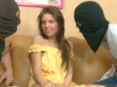 Cutie stands doggy fashion tube porn video