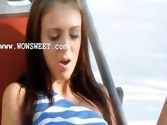 Extremely wow cunt toying on a sunbed tube porn video