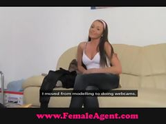 FemaleAgent All natural busty beauty tube porn video