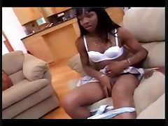 Ebony Shemale Nookie And The Repairman tube porn video