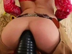 Brutal anus threesome with cowboy tube porn video