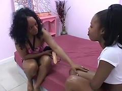 Hairy ebony lesbians tube porn video