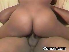 Big Titty Black Slut Riding tube porn video