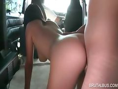Tempting amateur gives great BJ in the sexbus tube porn video