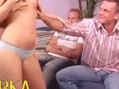 Exquisite Czech foursome on the bedstead tube porn video