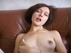 Russian Student Girl Doesn't Have a BF so She Masturbates Her Hairy Pussy with a Vibrator tube porn video