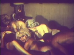 Erotic Threesome Turns into Group Sex 1960 tube porn video