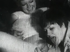 Pussy Shaving and Lesbian Lick Fest 1950 tube porn video