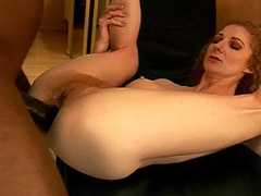 Redhead Hairy Pussy Diva Serves a Good Fuck for Enormously Big Black Dick tube porn video