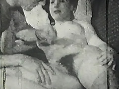 Mustached Boy Fucks Young Cutie's Pussy 1950 tube porn video