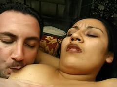 Latin Sperm Thirsty Girl Enjoys Her Hairy Pussy Fucked by a Stranger tube porn video