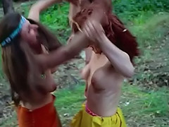 Kinky Chicks Fight and Tease Each Other 1960 tube porn video