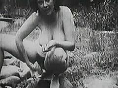 Old fashioned Group Sex Outdoors 1950 tube porn video