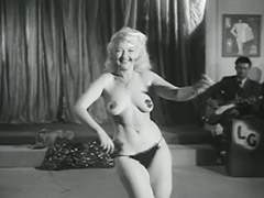 Sexy Blonde's Erotic Dance for Audience 1950 tube porn video