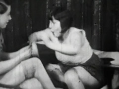 Lesbian Girls at Cards Catfighting 1940 tube porn video