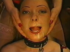 Girl used as cock sucking slave tube porn video