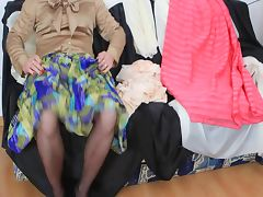 Satin videos. Big sexy natural tits in soft satin blouse screaming to be groped