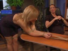 LEZDOM naughty sub spanked by domina tube porn video