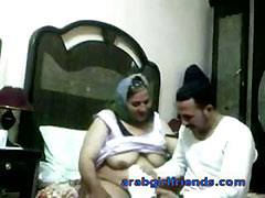 Horny Arab couple caught fucking by spy cam in hotel room tube porn video
