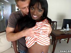 Interracial Scene With A Bootylicious Ebony Babe tube porn video