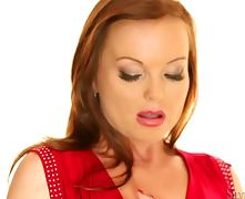 Redhead Silvia Saint Masturbating tube porn video