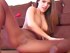 Sheer pantyhose girl talks dirty tube porn video