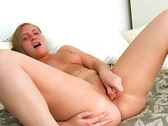 Brown eyed girl rides toys to orgasm tube porn video