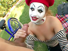Mime fucked in a public park tube porn video