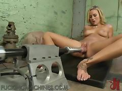 Blonde Slut Screaming Her Way To Orgasm On Machine tube porn video