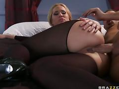 Gorgeous Anal Blonde Alanah Rae Sucks and Fucks Keiran Lee's Big Cock tube porn video