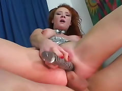 Audrey Hollander on leash anally fucked tube porn video
