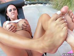 Mariah Milano and her fucking feet tube porn video