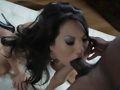 Busty Asian Babe Asa Akira Gets Fucked and Facialized By a Black Cock tube porn video
