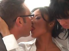Asian Boss Kaylani Lei Fucks Her Assistant Tory Lane and a Coworker tube porn video