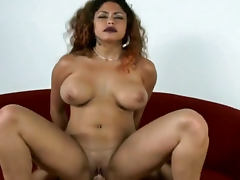 Dark lipstick is sexy on a curvy fuck slut tube porn video