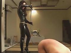 Femdom Kitagawa worshipping latex domina tube porn video