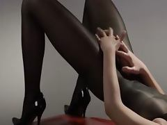 sleek princess in pantyhose masturbating tube porn video