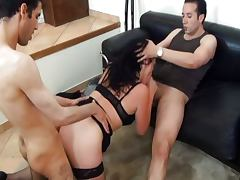 French CheatingWife fucked by 2 young guys tube porn video