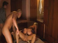 Beautiful Blonde gangbanged in Hotel Room tube porn video