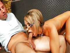Aleska Diamond With Glasses and David Perry tube porn video