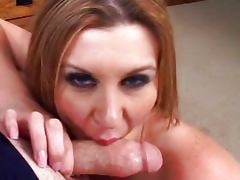 Sara loves cum over her tits tube porn video