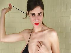 SLim Busty Abbey Paint tube porn video