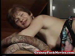 Real grandma fucked in every way tube porn video