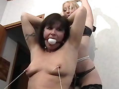 Mature BDSM video with a hot mils tube porn video