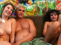 Annie Cruz VS Missi Daniels are two perverted cocksucking chicks tube porn video