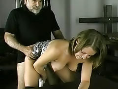 Young lady being fucked in her pussy by old fart tube porn video