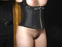 Submissive babe with huge derriere caned tube porn video