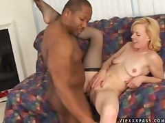 Nice Freddie Elle gets pounded in hot interracial video tube porn video