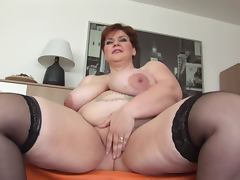 Unforgettable Shorthair BBW Milf Dildoing and Posing tube porn video